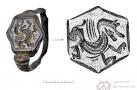 Перстень. Бронза. Литье, гравировка. 2,1×2,1 см. Городище Старые Покачи 5. XVI–XVII вв.