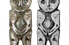 Фигура антропо-орнитоморфная. Бронза. Литье, пайка. 7,0×1,7×0,8 см. Городище Старые Покачи 5. IX–X вв.
