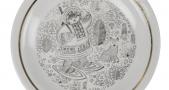 Тарелка десертная. 1970-1975 г. Хайтинский фарфоровый з-д.